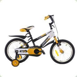 """Велосипед Azimut Stitch Premium 16"""" Жовто-біло-чорний"""