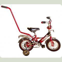 """Велосипед Марс 12"""" ручка+ексцентрик (червоний/чорний)"""