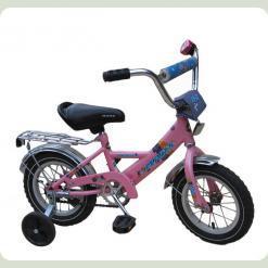 "Велосипед Марс 12"" ручка+ексцентрик (рожевий)"