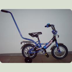 """Велосипед Марс 12"""" ручка+ексцентрик (синій/чорний)"""