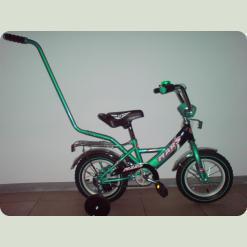 """Велосипед Марс 12"""" ручка+ексцентрик (зелений/чорний)"""