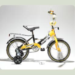 """Велосипед Марс 14"""" р.гальмо+ексцентрик (жовтий/чорний)"""