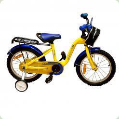 """Велосипед Марс 16"""" (yellow/blue) жовтий/синій"""
