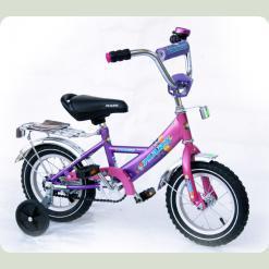 """Велосипед Марс 18"""" р.гальмо+ексцентрик (рожевий/фіолетовий)"""