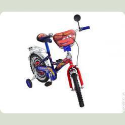 """Велосипед Mustang Тачки 14"""" Червоно-синій"""