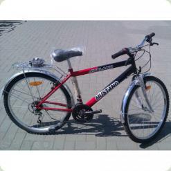 """Велосипед Mustang Upland 24 """"Червоно-чорний (24 * 160) + Збірка"""