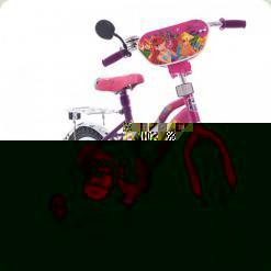 """Велосипед Mustang Winx 12"""" Рожево-бузковий"""