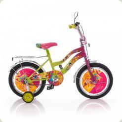 """Велосипед Mustang Winx 16"""" Рожево-салатовий"""