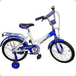 """Велосипед Pilot 16 """"PL1633 Синьо-білий"""