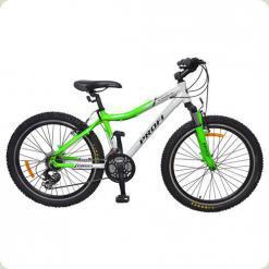 """Велосипед Profi Liners XM241A 24 """"Біло-салатовий"""
