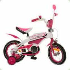 """Велосипед Profi Trike 12BX405-2 12"""" Біло-рожевий"""