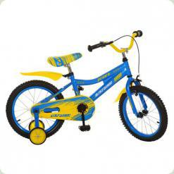 "Велосипед Profi Trike 16BA494UK 16"" Ukraine Жовто-блакитний"