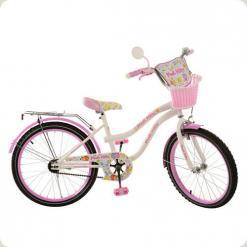 """Велосипед Profi Trike Kitty PK2064G 20"""" Біло-рожевий"""