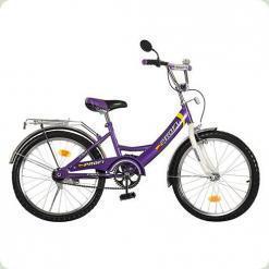 """Велосипед Profi Trike P 2048 20"""" Біло-фіолетовий"""
