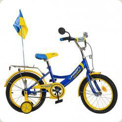 "Велосипед Profi Trike P1449 UK-1 14"" Ukraine Блакитний"