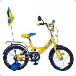 "Велосипед Profi Trike P1449 UK-2 14"" Ukraine Жовтий"