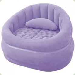 Велюр крісло Intex 68563 Бузковий