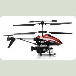 Вертоліт 3-к мікро і/ч WL Toys V757 BUBBLE мильні бульбашки (червоний)