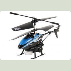 Вертоліт 3-к мікро і/ч WL Toys V757 BUBBLE мильні бульбашки (синій)