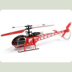 Вертоліт 4-к великий р/к 2.4GHz WL Toys V915 Lama (червоний)