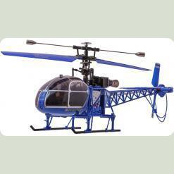 Вертоліт 4-к великий р/к 2.4GHz WL Toys V915 Lama (синій)