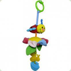 Вібруюча іграшка-підвіска Biba Toys Божа Корівка мандрівниця на квітці (111BR ladybird)