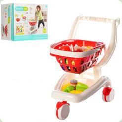 Візок з кошиком і продуктами Bambi Червоний (922-12-13)
