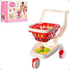 Візок з кошиком і продуктами Bambi Рожевий (922-12-13)