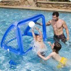 Ворота для футболу і водного поло Intex 58507 з надувним м'ячем