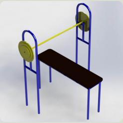 Вуличний тренажер для жиму лежачи
