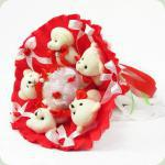 Букет з іграшок Ведмедики 5 червоний 5289IT