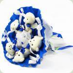 Букет з іграшок Ведмедики 5 синій 5290IT
