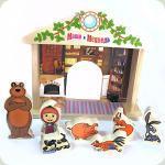 Дерев'яна іграшка Bambi GT 5948 Гра-логіка Маша і Ведмідь
