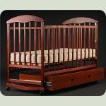 Дитяче ліжко Наталка з ящиком Ясень Тонована
