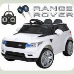 """Дитячий Джип Land Rover """"Шкіряне сидіння"""" білий M 3402"""
