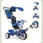 Дитячий металевий велосипед з козирком, багажником та сумкою, синій, 10міс.+
