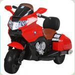 """Дитячий Мотоцикл YAMAHA """"Шкіряне сидіння"""" M 3277 червоний"""