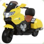 """Дитячий Мотоцикл YAMAHA """"Шкіряне сидіння"""" M 3277 жовтий"""