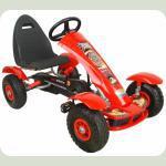 Дитячий спортивний картинг, на педалях, і з гумовими колесами G18