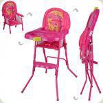 Дитячий стільчик для годування Bambi Pink (HC100A)