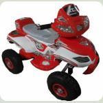 Електромобіль Bambi M 0417 A-1-3 (гумові колеса) Червоний з білим