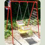 Гойдалка дитяча на ланцюгах Човник для двох дітей
