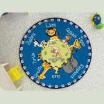 Килим в дитячу кімнату Confetti - Animal Planet блакитний Ø 133