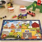 Килим в дитячу кімнату Confetti - Animal World блакитний 133*190