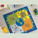 Килим в дитячу кімнату Confetti - Four Seasons блакитний 133*133
