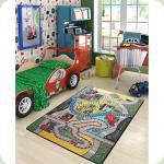 Килим в дитячу кімнату Confetti - Race зелений 133*190