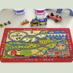 Килим в дитячу кімнату Confetti - Railway червоний 133*190