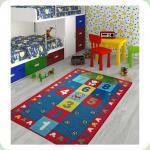 Килим в дитячу кімнату Confetti - Seksek червоний 133*190