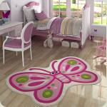 Килим в дитячу кімнату Confetti - Sweet Butterfly рожевий 100*160