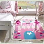 Килим в дитячу кімнату Confetti - Towers рожевий 100*160